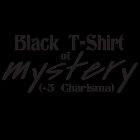 Epic Label Black T-Shirt of Mystery with Puff Ink