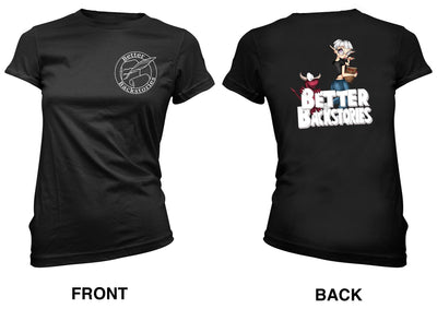 Better Backstories Stef Wilson (color) - Women's Tee