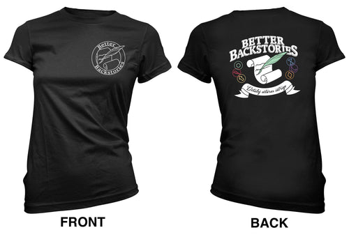 Better Backstories Scroll (color) - Women's Tee
