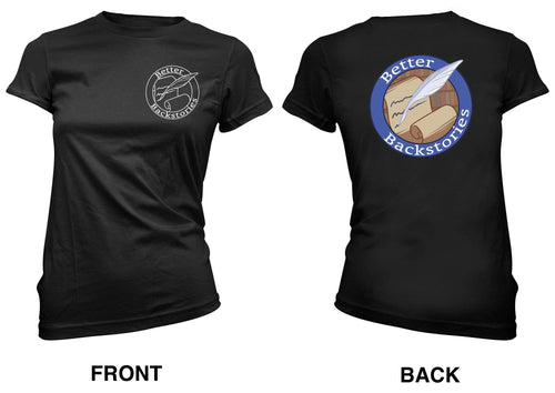 Better Backstories Logo (color) - Women's Tee