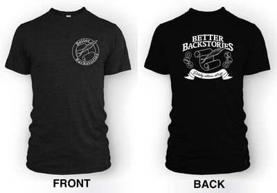 Better Backstories Scroll (white) - Men's Tee