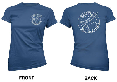Better Backstories Logo (white) - Women's Tee