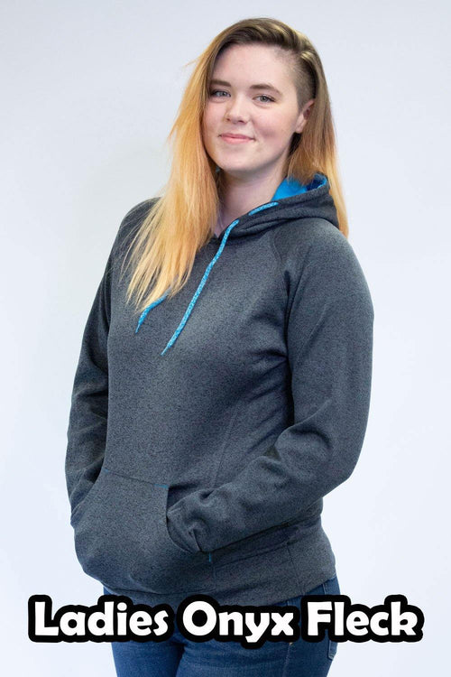 Onyx Fleck Hoodies -Women