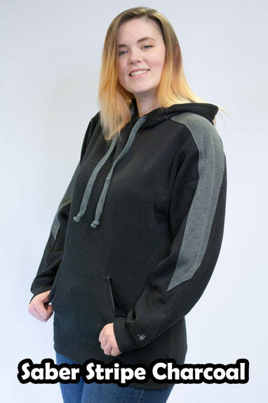 Saber Stripe Charcoal Hoodies - Unisex