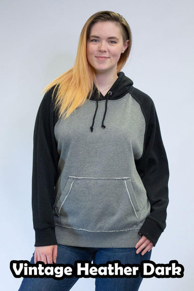 Vintage Heather Dark Hoodies - Unisex