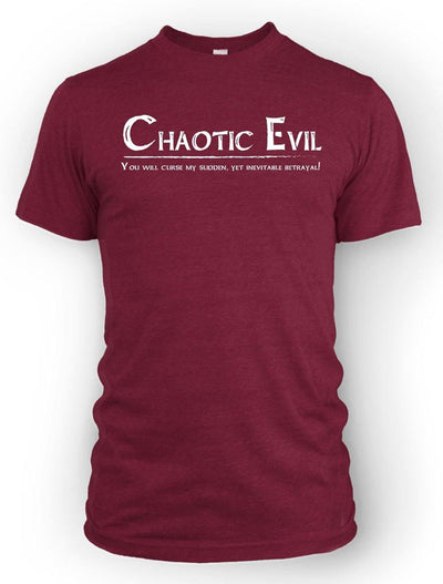 Chaotic Evil: Sudden Betrayal -Men's Tee