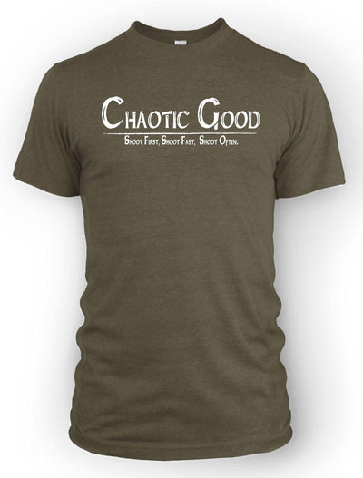 Chaotic Good: Shoot First -Men's Tee