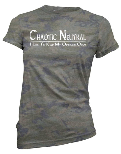 Chaotic Neutral: Options Open -Women's Tee