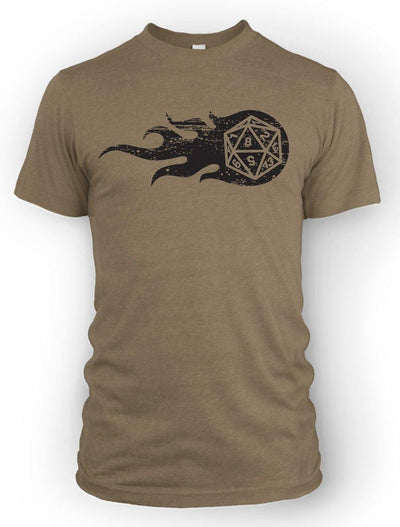 Flaming d20 -Men's Tee