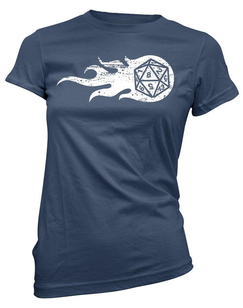 Flaming d20 -Women's Tee