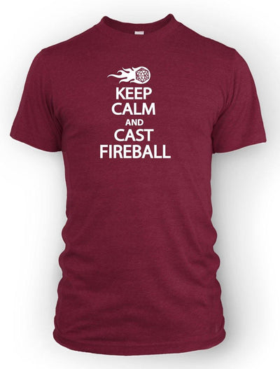 Keep Calm and Cast Fireball -Men's Tee