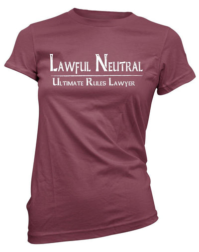 Lawful Neutral: Ultimate Rules Lawyer -Women's Tee