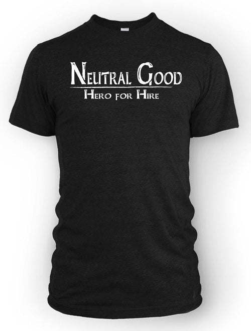 Neutral Good: Hero for Hire -Men's Tee