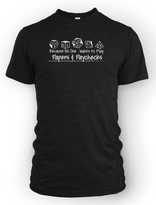 Papers and Paychecks -Men's Tee