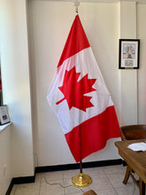 Load image into Gallery viewer, Canadian Applique Flag on a flagpole