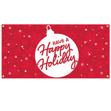 Load image into Gallery viewer, Happy Holiday Flag
