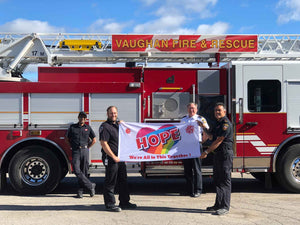 Vaughan fire and rescue hope flag