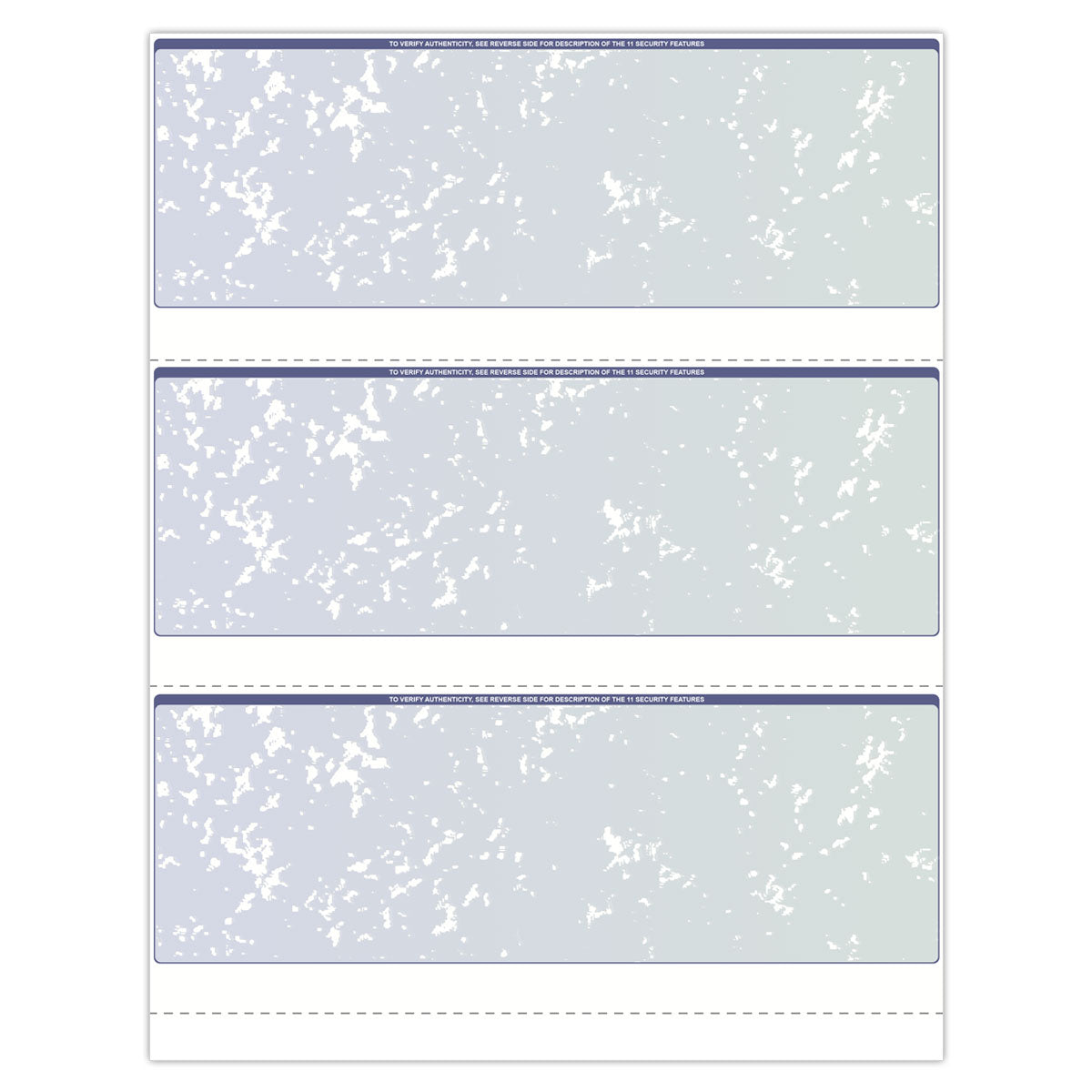 3-Per-Page Format Blank Check Paper - Check Depot