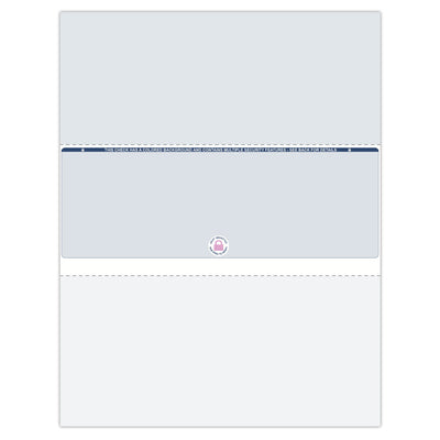Middle Format Blank Check Paper - Check Depot
