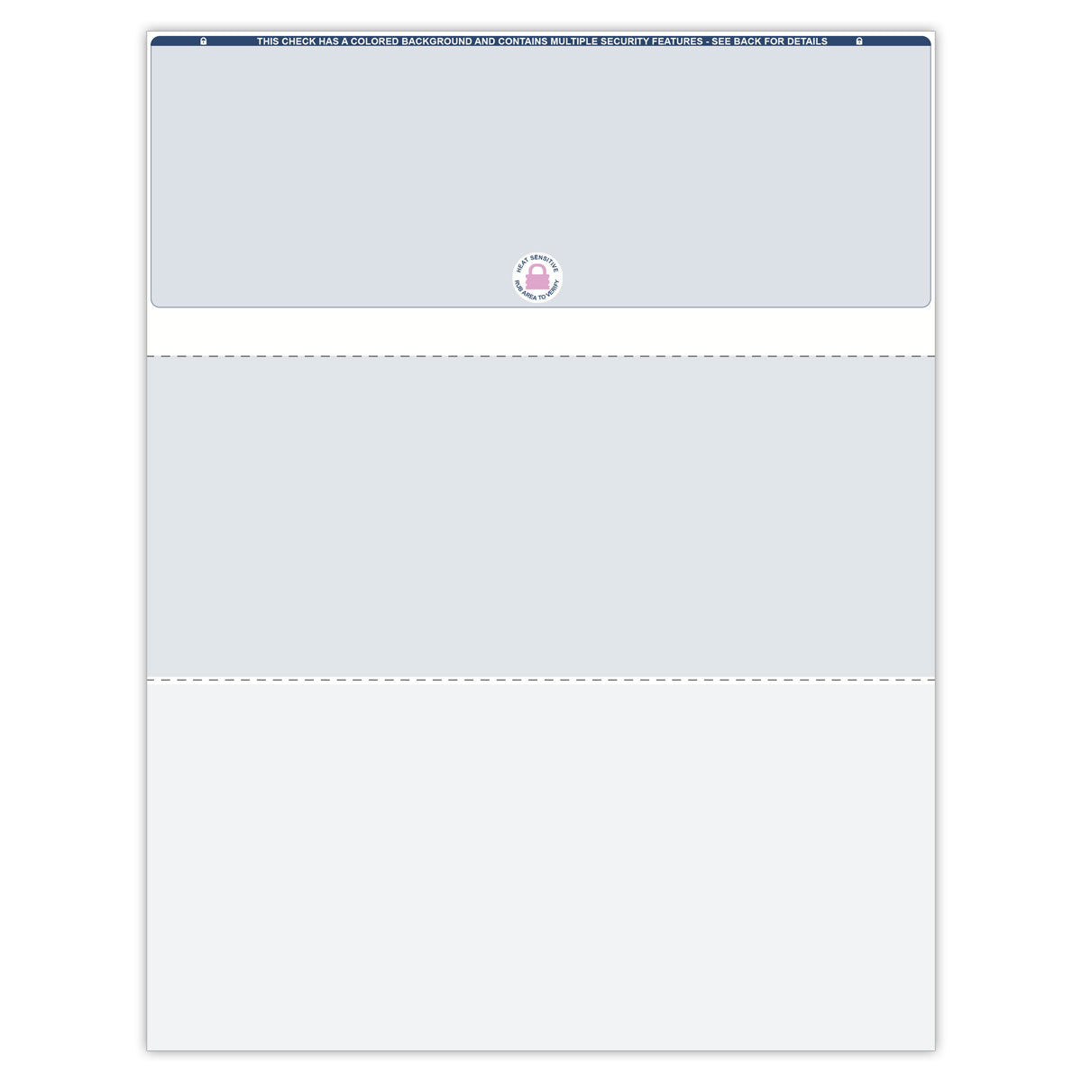 Top Format Blank Check Paper - Check Depot