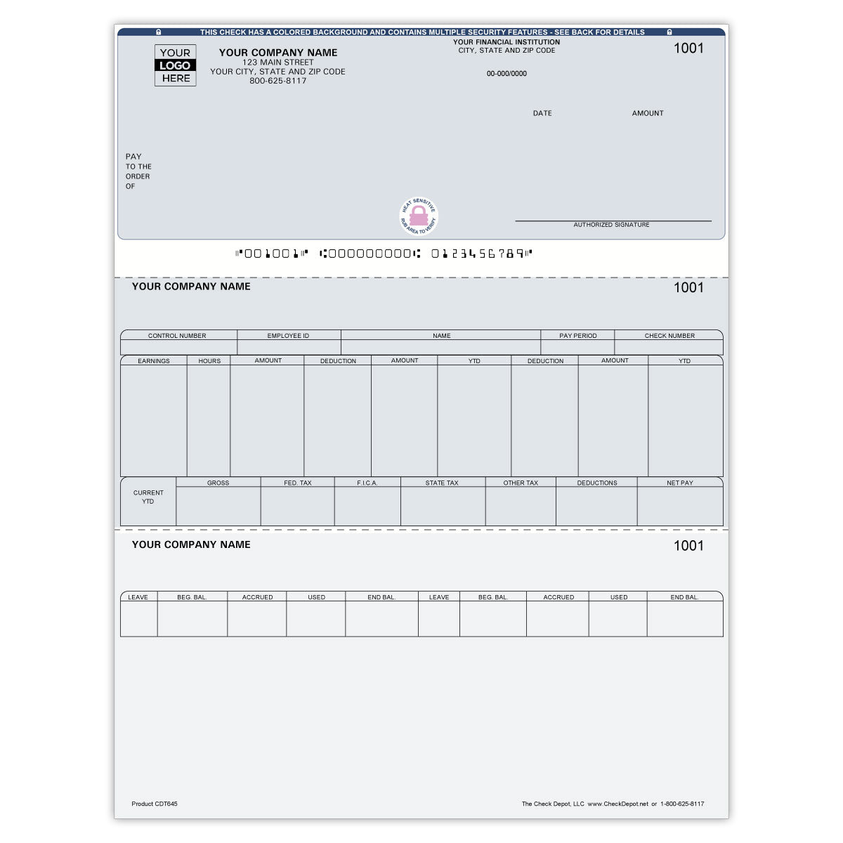 Laser Top Payroll Computer Checks - Check Depot