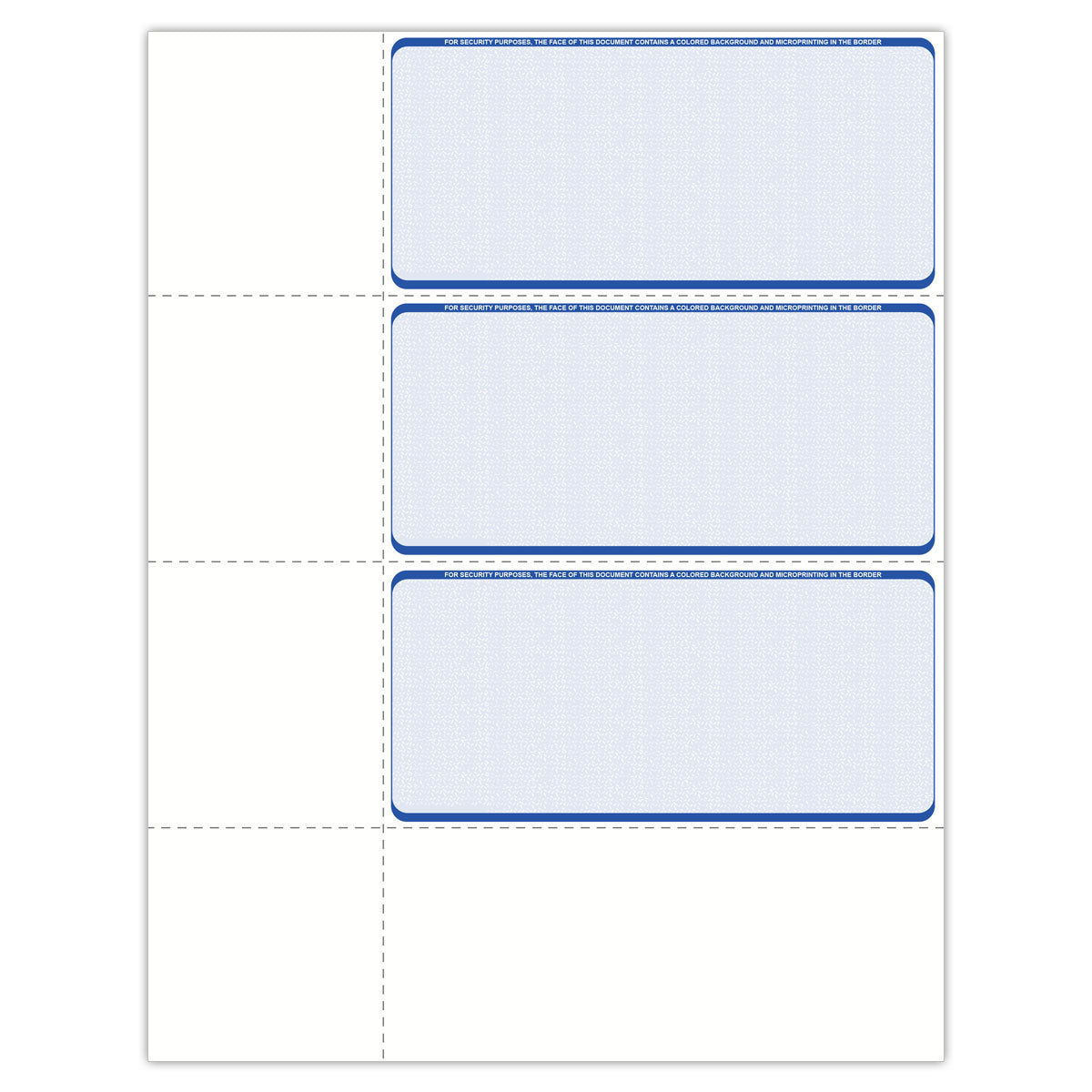 Wallet Format Blank Check Paper - Check Depot
