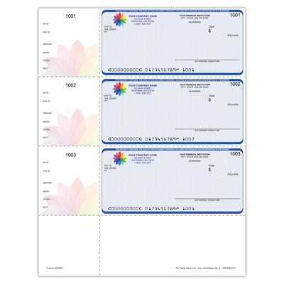 Full-Color, High-Security QuickBooks Wallet Checks - Check Depot