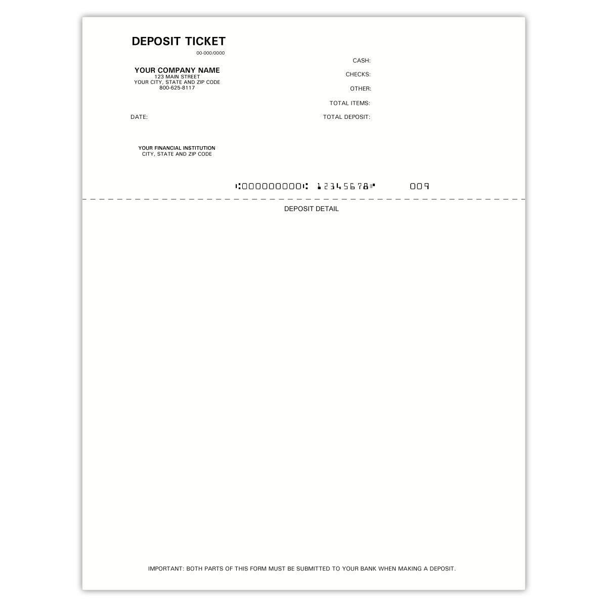 Peachtree Printable Deposit Slips - Check Depot