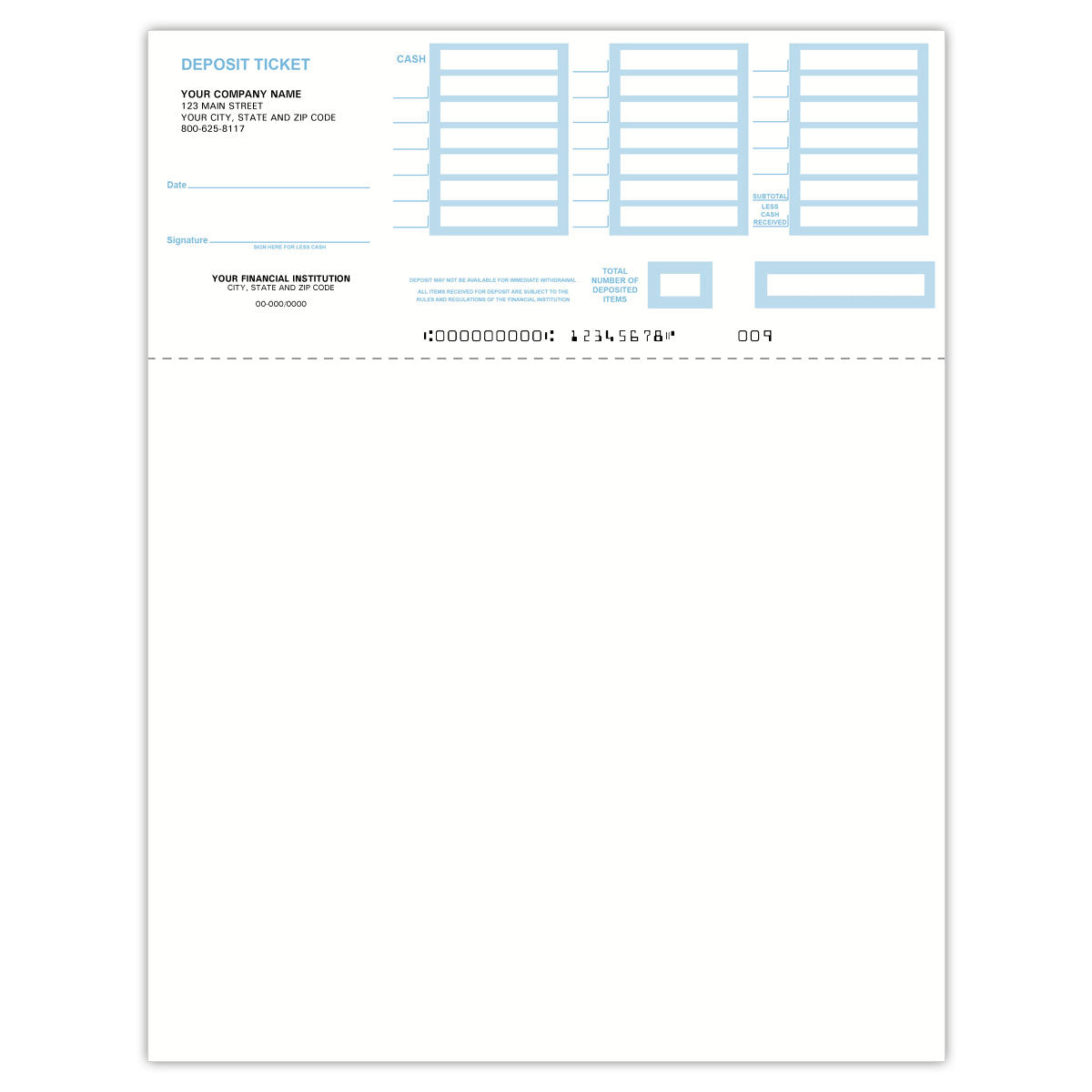 QuickBooks Printable Deposit Slips - Check Depot