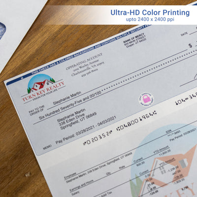 Full-Color, High-Security QuickBooks Checks with Lines - Check Depot