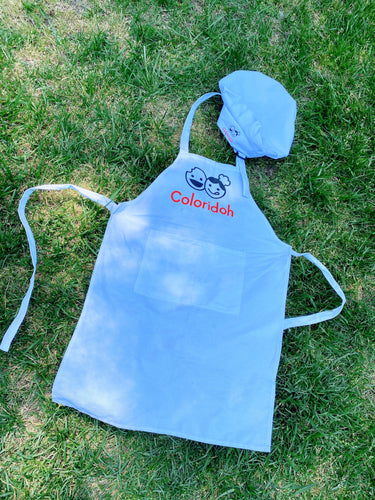 Kid's chef hat & apron / M size