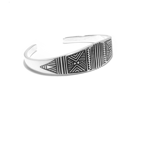 navajo silver bangle drawings bracelet berbere indian