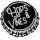 Hops & Vines bottle cap logo