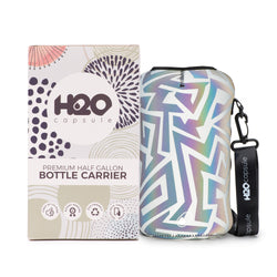 Tribal Maze Sleeve - H2O Capsule Half Gallon Water Bottle Carrier with Strap
