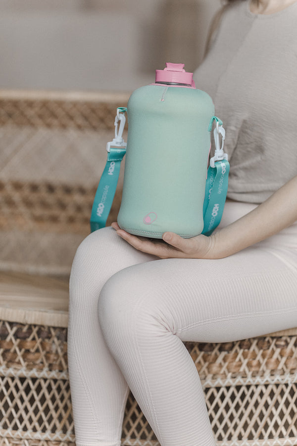 Candy Teal Sleeve - H2O Capsule Half Gallon Water Bottle Carrier with Strap