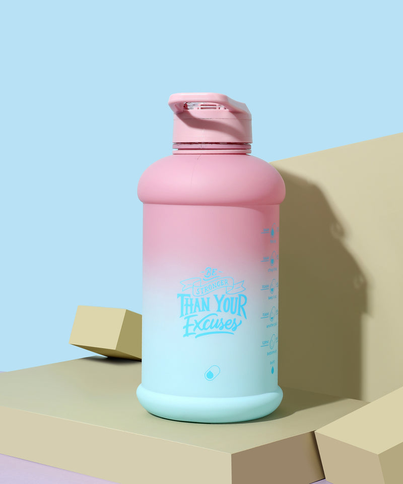 Rainy Ashville- H2O Capsule INSPO Half Gallon Water Bottle with Time Marker and Straw