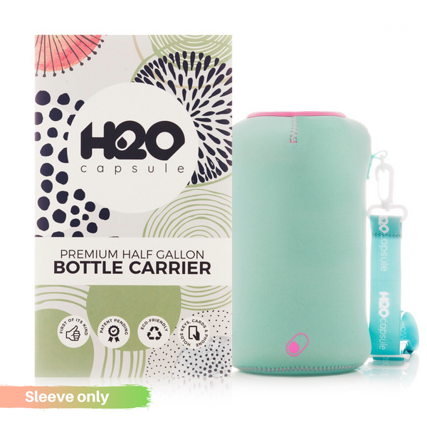 Candy Teal - **Sleeve Only** - H2O Capsule Half Gallon Water Bottle Carrier with Strap