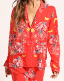 Cleobella women's sleepwear set, colorful sleepwear, sleepwear gifts poppy