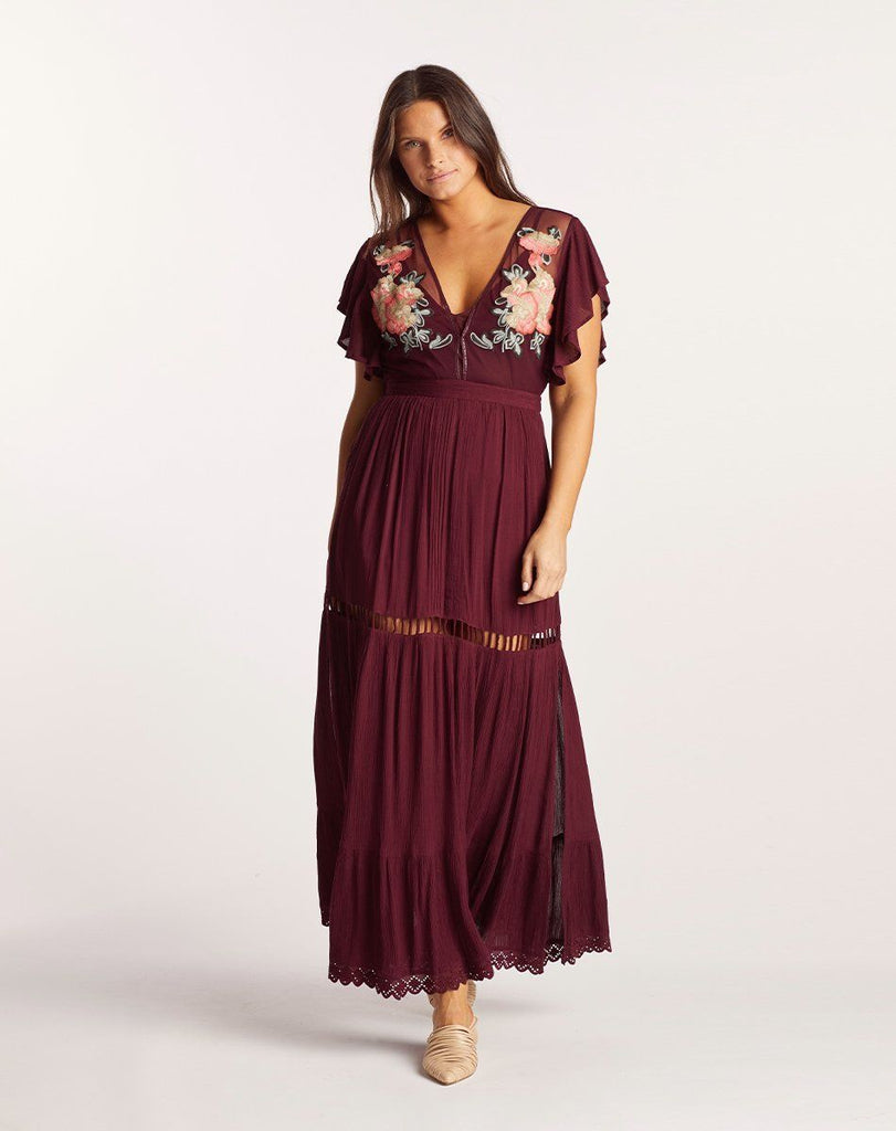 AMERY MAXI DRESS PORT Dresses Cleobella
