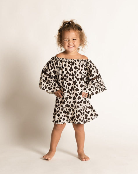 BONNIE DRESS WHITE LEOPARD Dresses Cleobella Littles