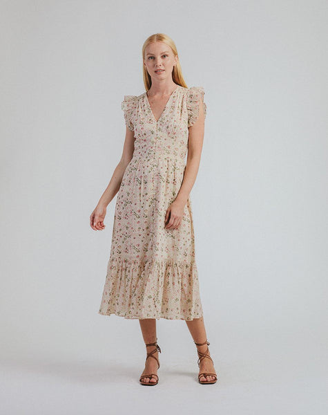 Briellea Midi Dress | Victorian Floral Dresses Cleobella