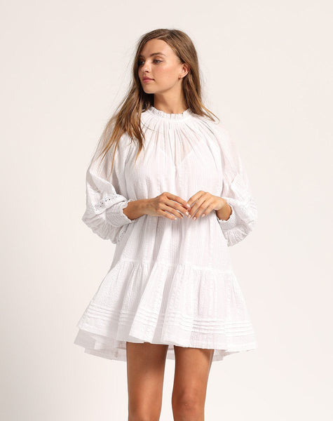ETHERAL MINI DRESS WHITE Dresses Cleobella