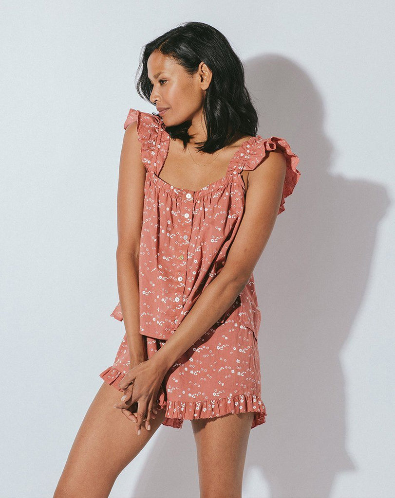 Exclusive V-Day Pajama Set Rose Tops Cleobella
