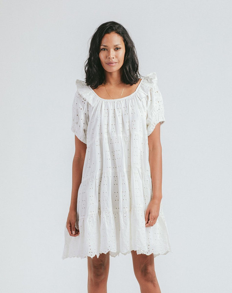 Ferris Mini Dress | Ivory Dresses Cleobella