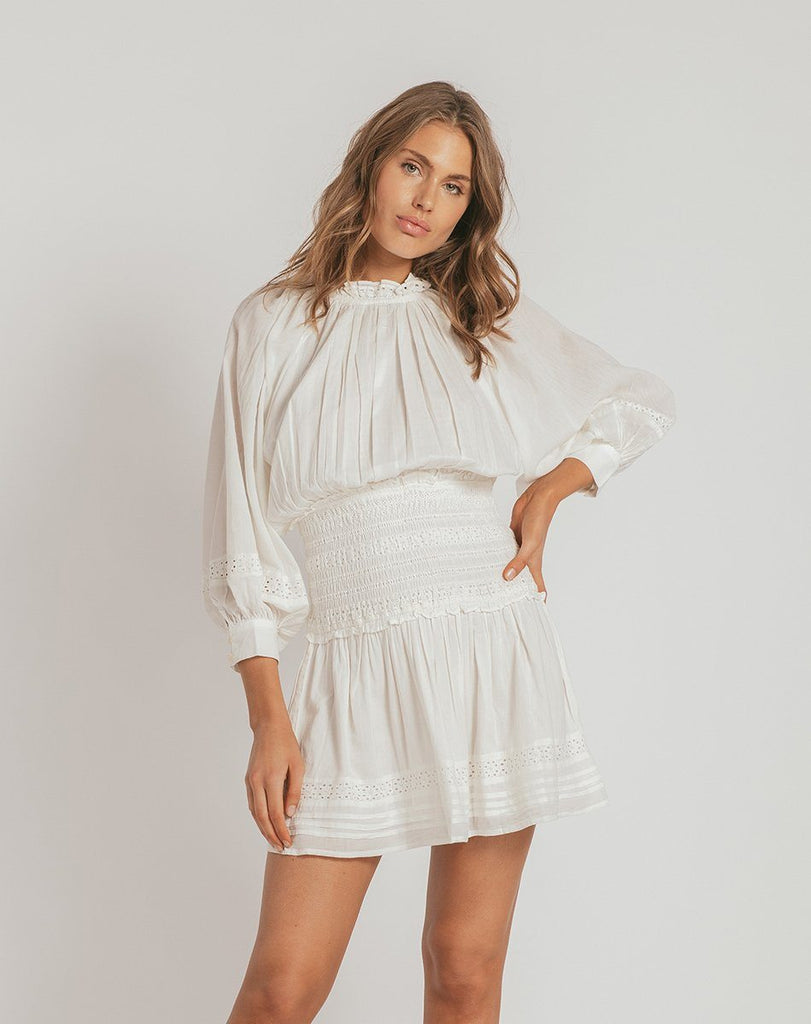 HAYDEN DRESS IVORY Dresses Cleobella