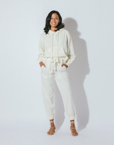 JUNIPER JOGGER IVORY Bottoms Cleobella