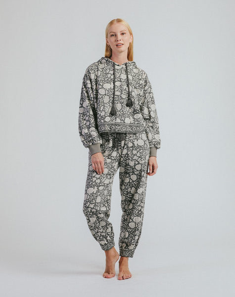 Juniper Jogger Tonal Block Grey Bottoms Cleobella