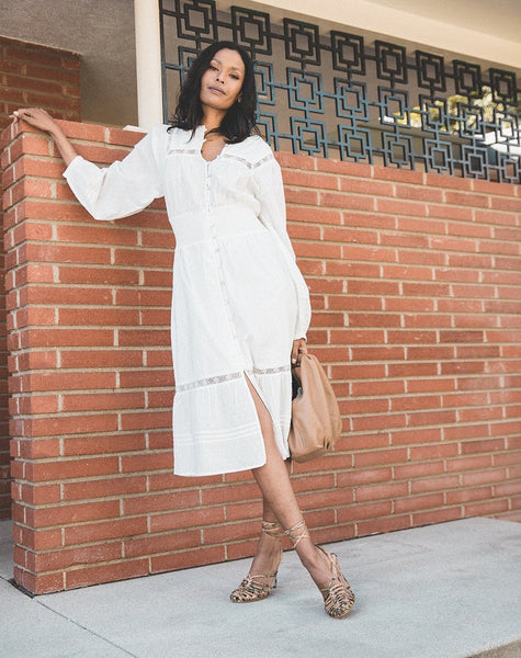 Kamela Midi Dress White Dresses Cleobella
