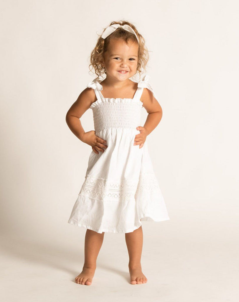 LILLIE DRESS WHITE Dresses Cleobella Littles