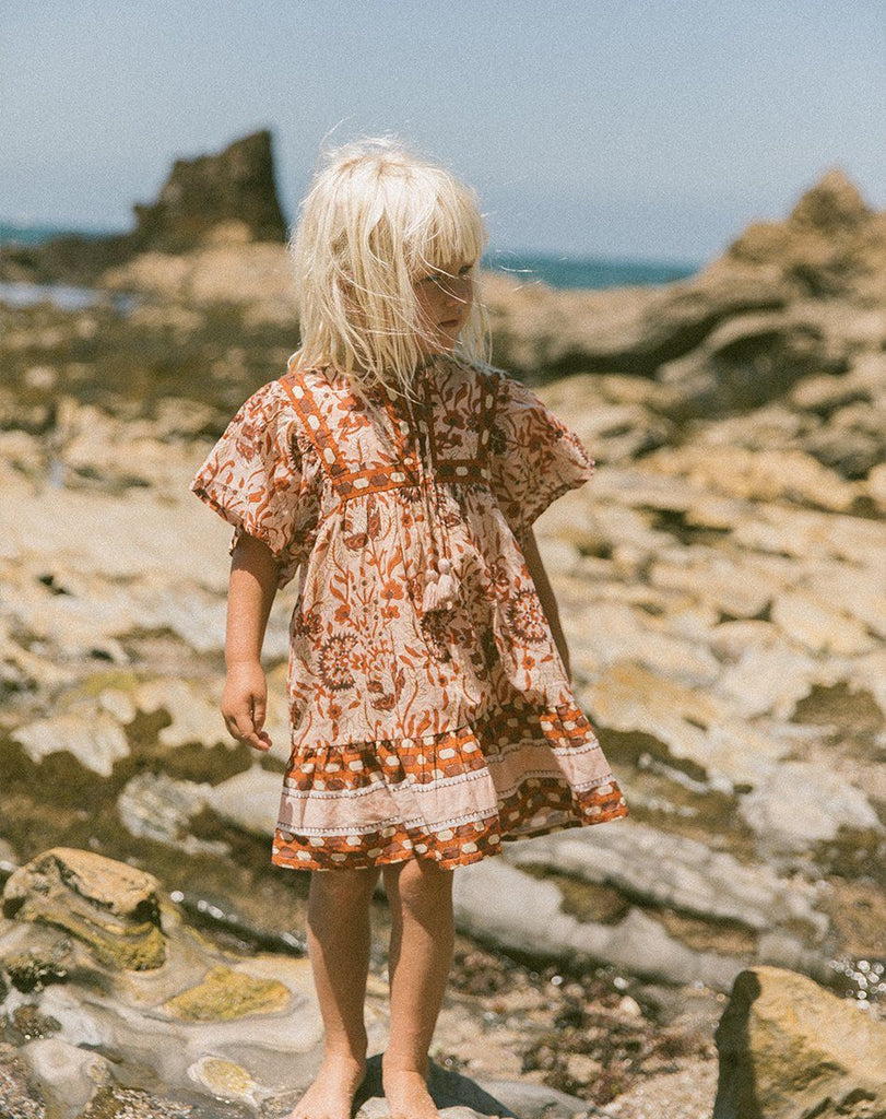 MAGDALENA DRESS BLUSH Dresses Cleobella Littles